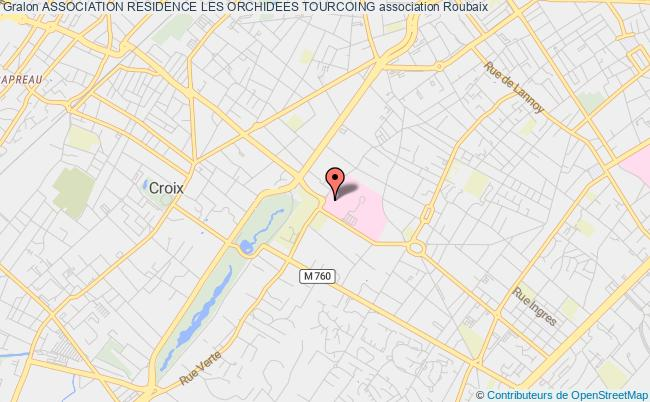 plan association Association Residence Les Orchidees Tourcoing