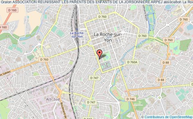 plan association Association Reunissant Les Parents Des Enfants De La Jorsonniere Arpej La    Roche-sur-Yon