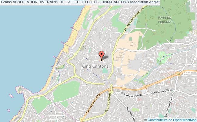 plan association Association Riverains De L'allee Du CoÛt - Cinq-cantons