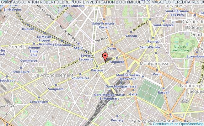 plan association Association Robert Debre Pour L'investigation Biochimique Des Maladies Hereditaires Du Metabolisme Paris