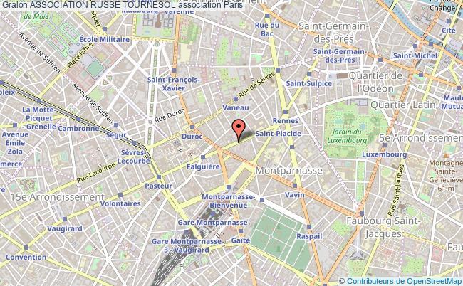 plan association Association Russe Tournesol Paris