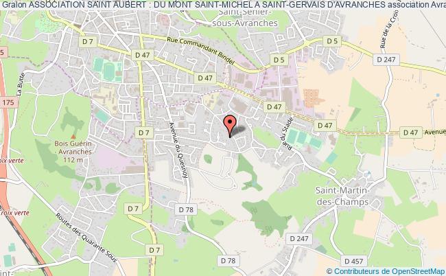 plan association Association Saint Aubert : Du Mont Saint-michel A Saint-gervais D'avranches