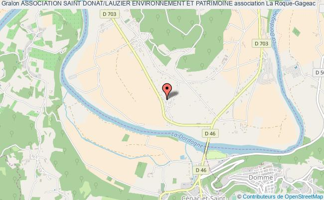 plan association Association Saint Donat/lauzier Environnement Et Patrimoine