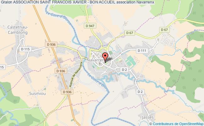 plan association Association Saint Francois Xavier - Bon Accueil