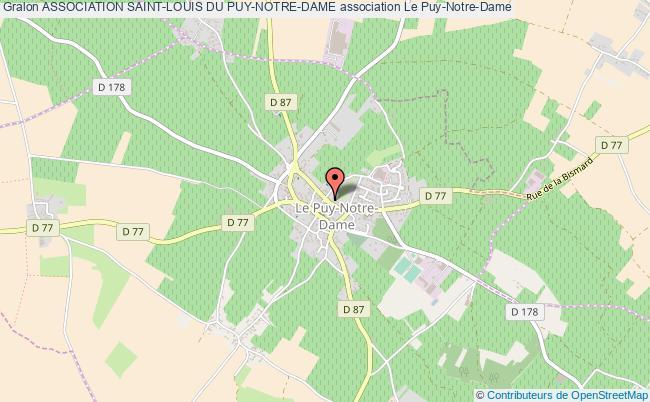 plan association Association Saint-louis Du Puy-notre-dame Le    Puy-Notre-Dame