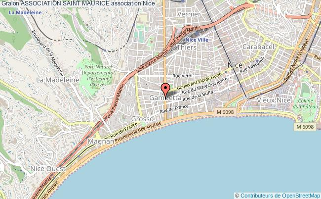 plan association Association Saint Maurice Nice