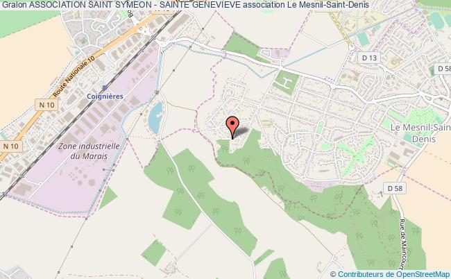 plan association Association Saint Symeon - Sainte Genevieve Le    Mesnil-Saint-Denis