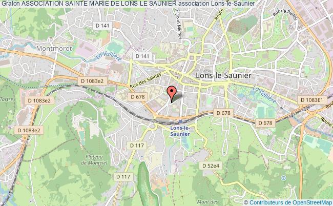 plan association Association Sainte Marie De Lons Le Saunier