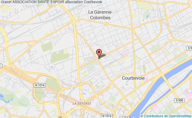 plan association Association Sante Espoir Courbevoie