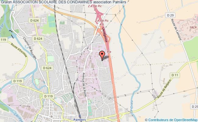 plan association Association Scolaire Des Condamines