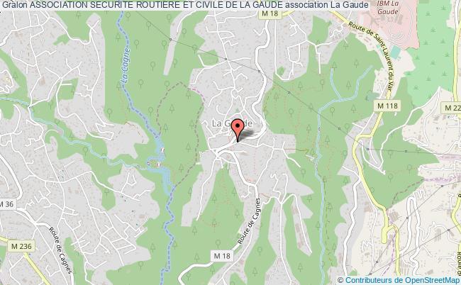 plan association Association Securite Routiere Et Civile De La Gaude