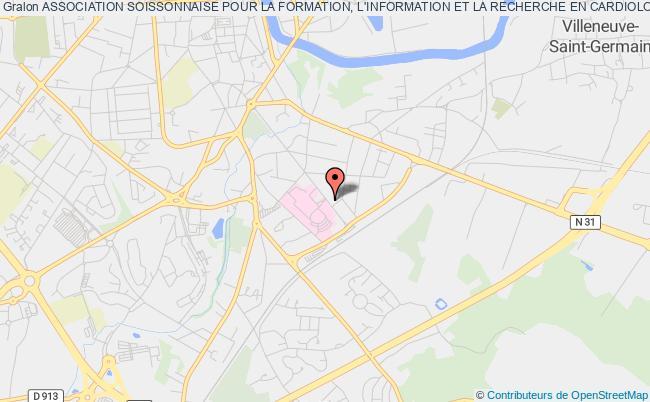 plan association Association Soissonnaise Pour La Formation, L'information Et La Recherche En Cardiologie (a.s.f.i.r.c) Soissons