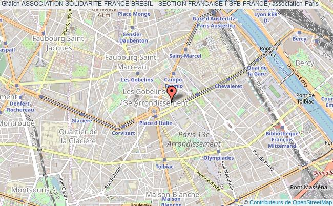 plan association Association Solidarite France Bresil - Section Francaise ( Sfb France)
