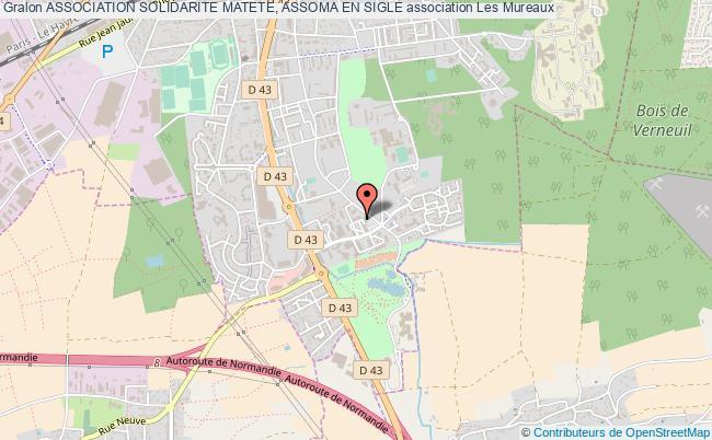 plan association Association Solidarite Matete, Assoma En Sigle Les   Mureaux