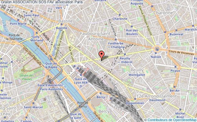 plan association Association Sos Fav Paris