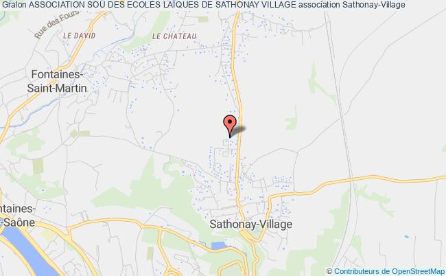 plan association Association Sou Des Ecoles Laiques De Sathonay Village
