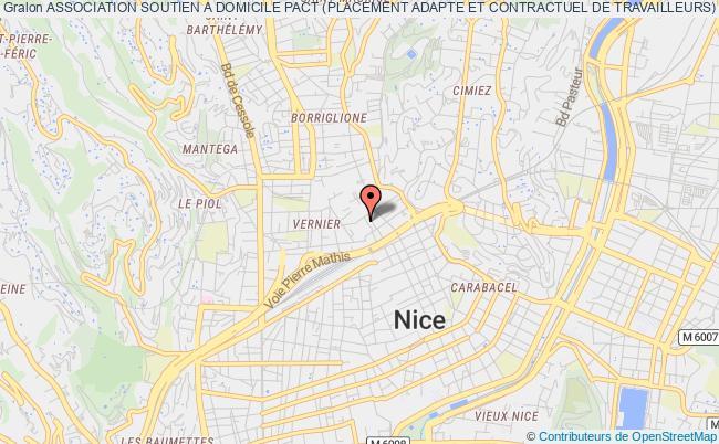 plan association Association Soutien A Domicile Pact (placement Adapte Et Contractuel De Travailleurs) Nice
