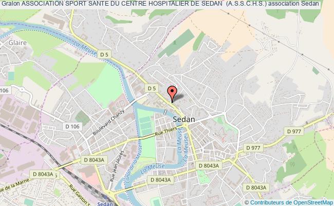 plan association Association Sport Sante Du Centre Hospitalier De Sedan  (a.s.s.c.h.s.)