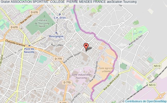 plan association Association Sportive  College  Pierre Mendes France