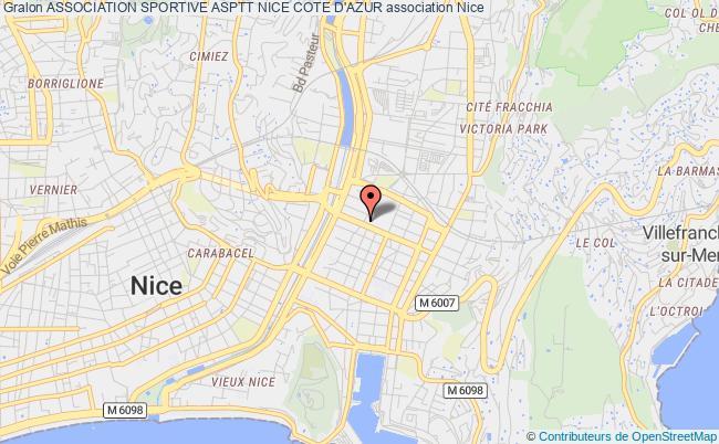 plan association Association Sportive Asptt Nice Cote D'azur Nice