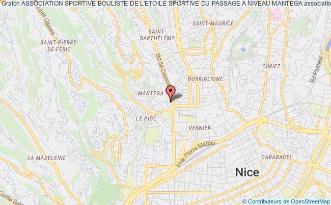 plan association Association Sportive Bouliste De L'etoile Sportive Du Passage A Niveau Mantega Nice