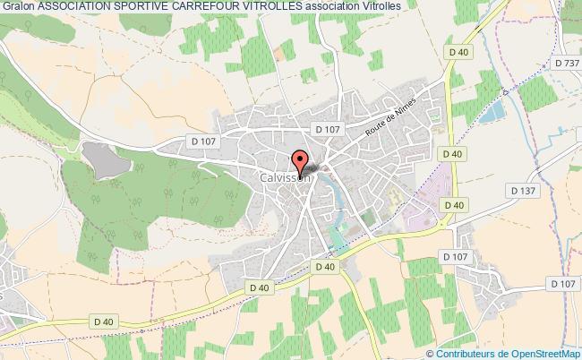 plan association Association Sportive Carrefour Vitrolles Vitrolles