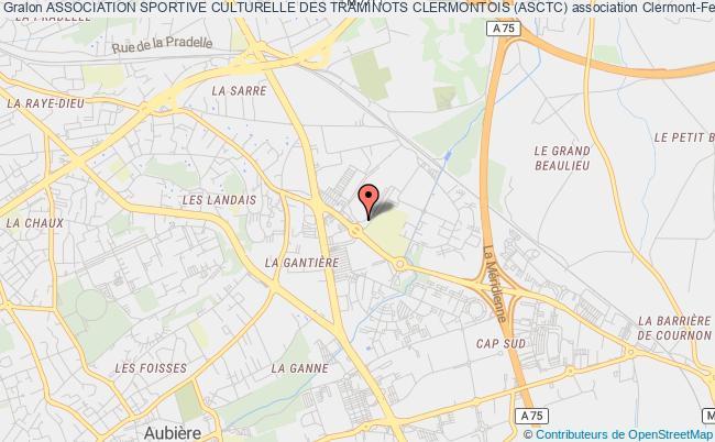 plan association Association Sportive Culturelle Des Traminots Clermontois (asctc)