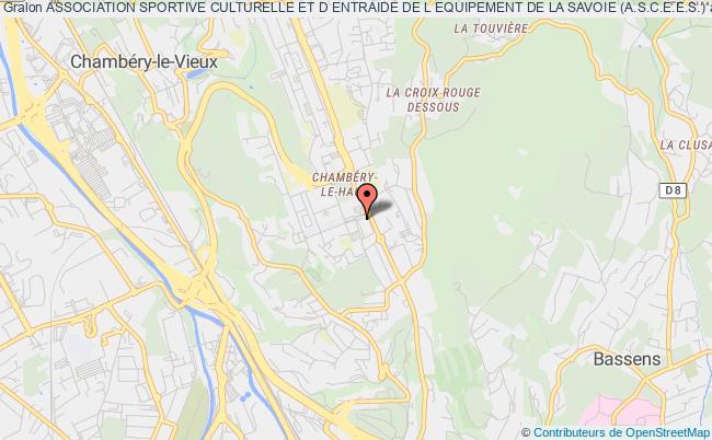 plan association Association Sportive Culturelle Et D Entraide De L Equipement De La Savoie (a.s.c.e.e.s.)