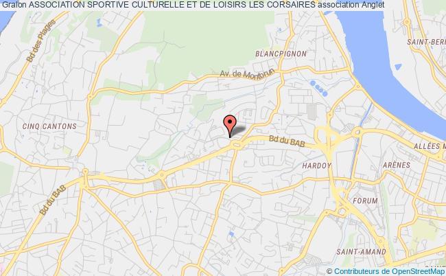 plan association Association Sportive Culturelle Et De Loisirs Les Corsaires