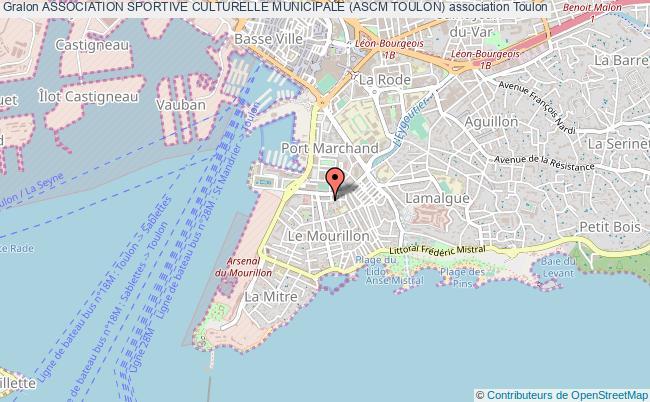 plan association Association Sportive Culturelle Municipale (ascm Toulon) Toulon