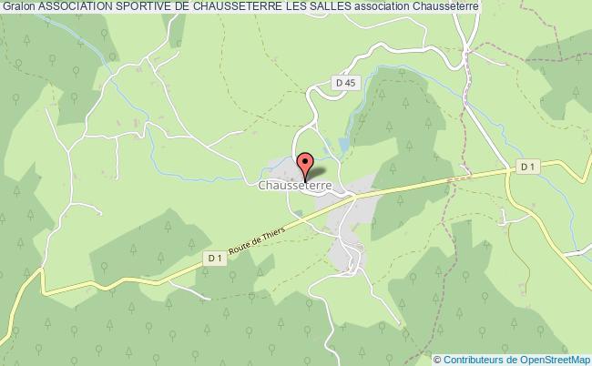 plan association Association Sportive De Chausseterre Les Salles Chausseterre