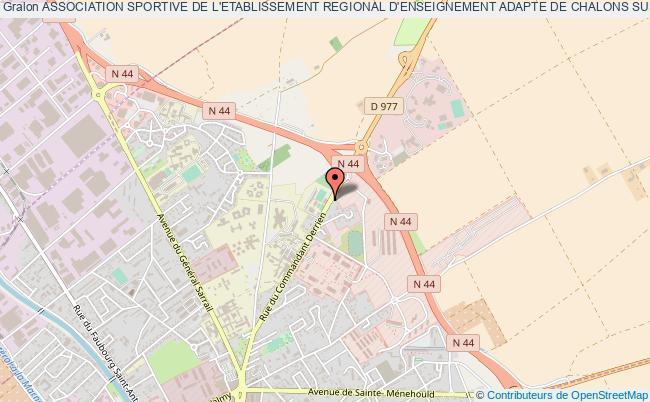 plan association Association Sportive De L'etablissement Regional D'enseignement Adapte De Chalons Sur Marne