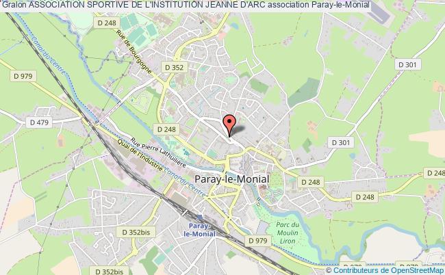 plan association Association Sportive De L'institution Jeanne D'arc Paray-le-Monial