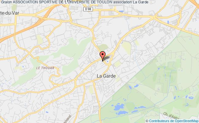 plan association Association Sportive De L'universite De Toulon