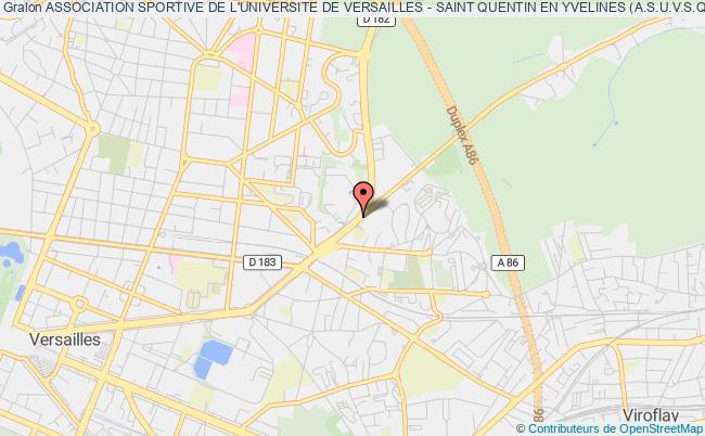 plan association Association Sportive De L'universite De Versailles - Saint Quentin En Yvelines (a.s.u.v.s.q.)