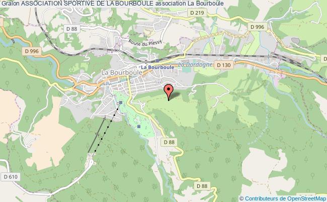 plan association Association Sportive De La Bourboule