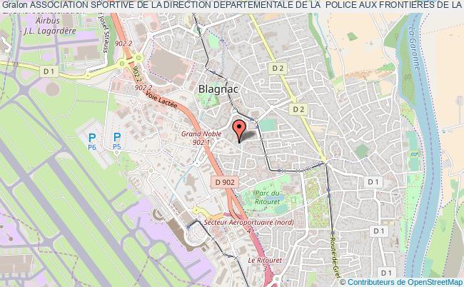 plan association Association Sportive De La Direction Departementale De La  Police Aux Frontieres De La Haute-garonne (asddpaf31)