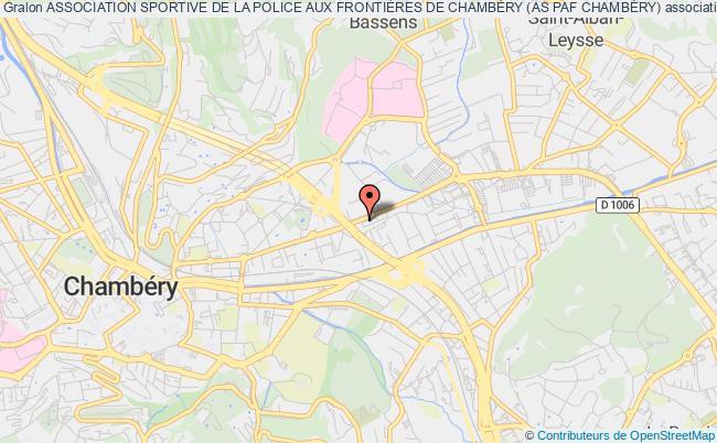 plan association Association Sportive De La Police Aux FrontiÈres De ChambÉry (as Paf ChambÉry)