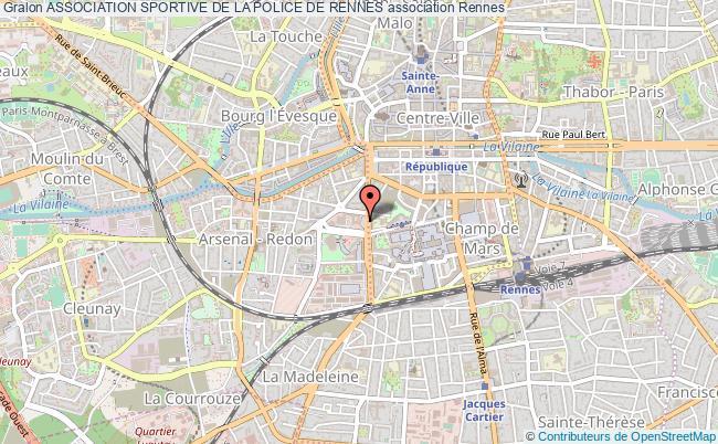 plan association Association Sportive De La Police De Rennes Rennes