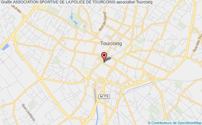plan association Association Sportive De La Police De Tourcoing Tourcoing