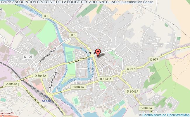 plan association Association Sportive De La Police Des Ardennes - Asp 08