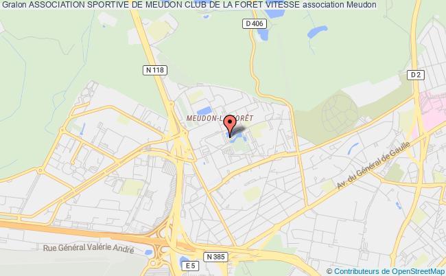 plan association Association Sportive De Meudon Club De La Foret Vitesse