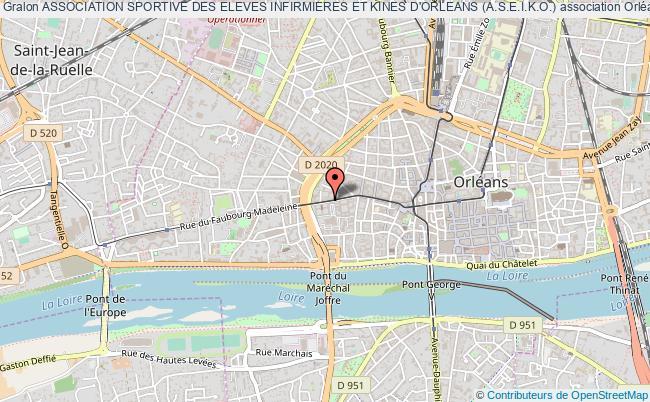 plan association Association Sportive Des Eleves Infirmieres Et Kines D'orleans (a.s.e.i.k.o.)