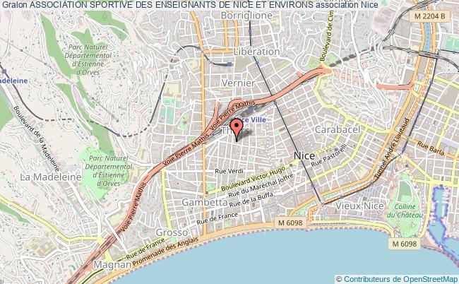 plan association Association Sportive Des Enseignants De Nice Et Environs Nice