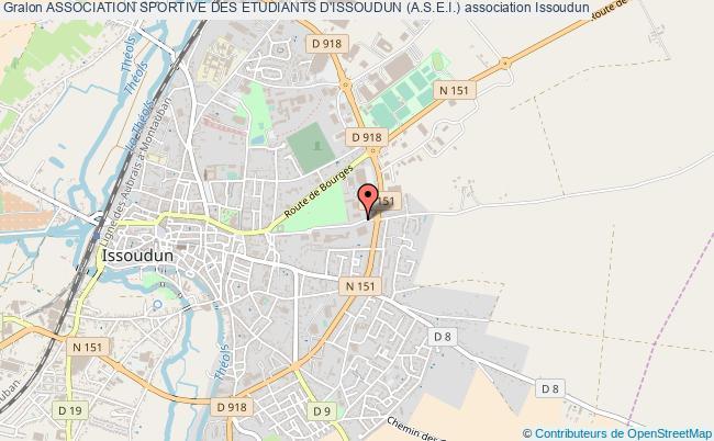 plan association Association Sportive Des Etudiants D'issoudun (a.s.e.i.) Issoudun