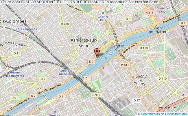 plan association Association Sportive Des Flots Bleus D'asnieres Asnières-sur-Seine