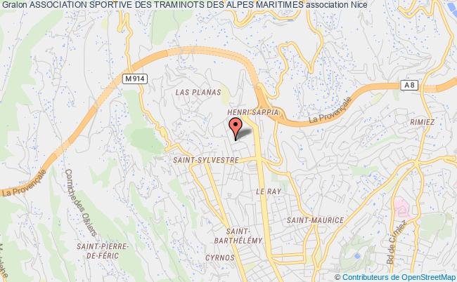 plan association Association Sportive Des Traminots Des Alpes Maritimes Nice
