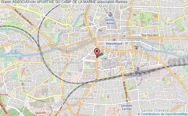 plan association Association Sportive Du Camp De La Marne Rennes