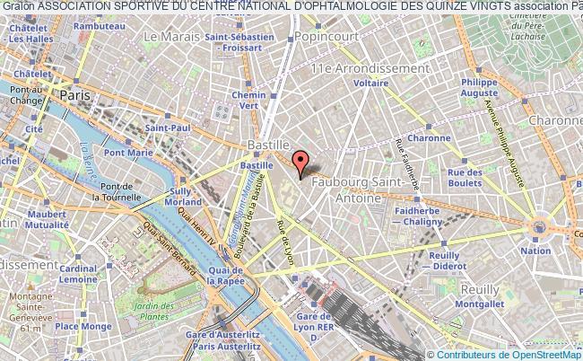 plan association Association Sportive Du Centre National D'ophtalmologie Des Quinze Vingts Paris