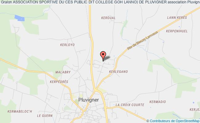 plan association Association Sportive Du Ces Public Dit College Goh Lanno) De Pluvigner Pluvigner